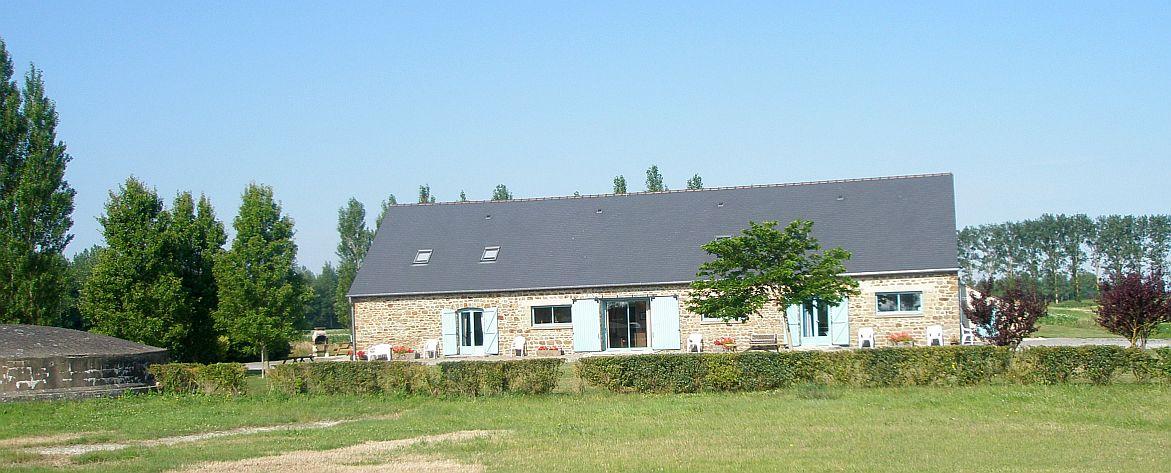 Village gte Anse de Moidrey au Mont Saint-Michel en Normandie